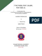 PTU M.tech thesis template