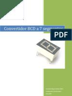 Convertidor BCD a 7 segmentos