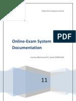 online examination  documentation