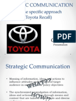 Strategic Communication - Toyota