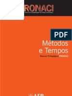 PRONACI Manual métodos e tempos
