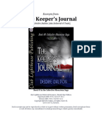 The Keeper's Journal (*EXCERPTS ONLY*)