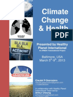 Climate Changes and Health