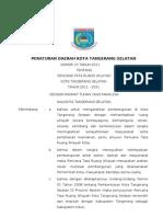 Peraturan Daerah Kota Tangerang Selatan Nomor 15 Tahun 2011 tentang Rencana Tata Ruang Wilayah (RTRW)