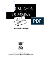 Microsoft Visual Studio C++ 6 for Dummies Quick Reference Guide