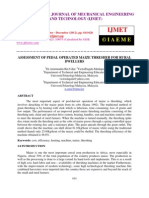 Assessment of Pedal Operated Maize Thresher for Rural Dwellers
