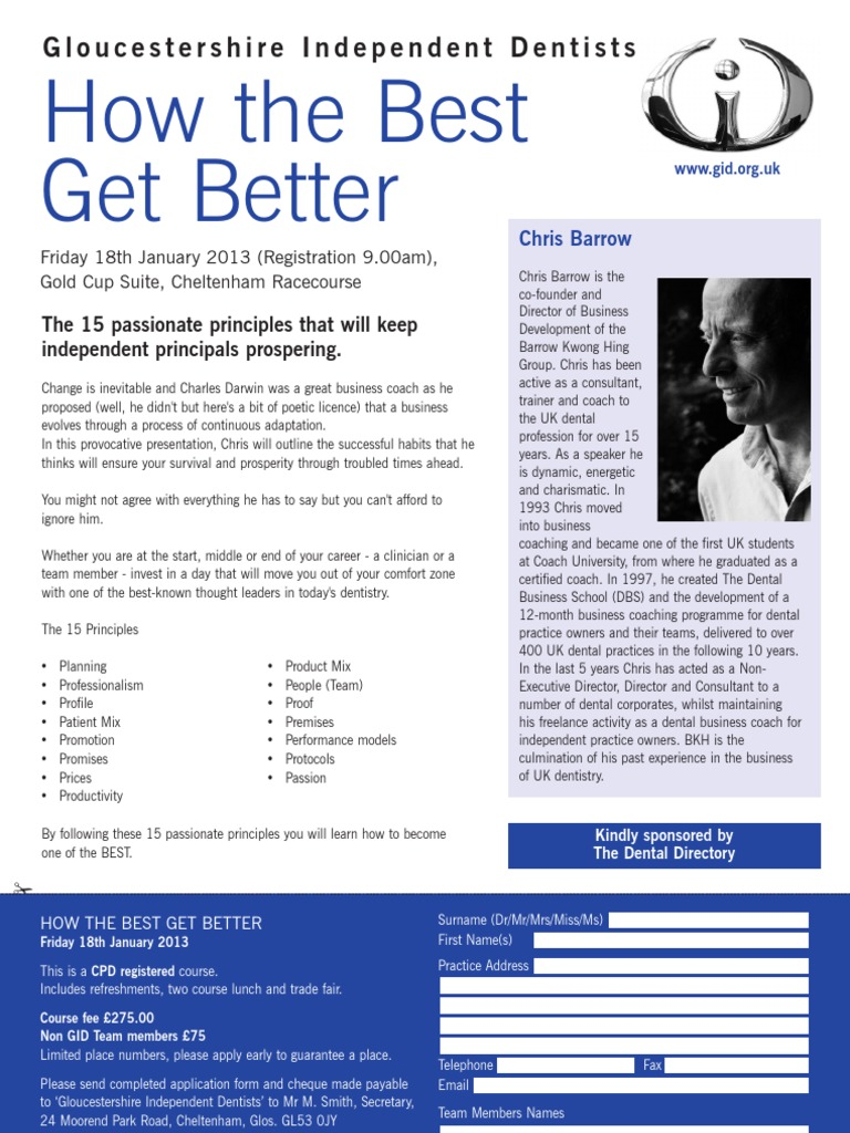 GID Barrow Flyer - Jan 2013 | Dentistry | Public Health