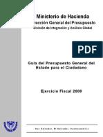 Guia Del Presupuesto 2008