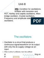 Sinusoidal oscillator circuts