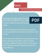 FISMA - CSIS 20 Critical Controls