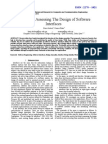 Metrics for Assessing the Design of Software Interfaces