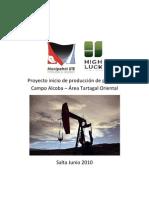 Proyecto inicio de producción de petróleo  Campo Alcoba2