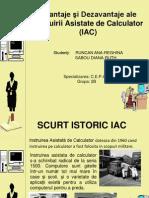 Avantaje Si Dezavantaje Ale IAC