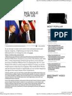 Obama Seizing Sole Authority for US Defense