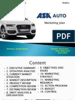 ASA Presentation of Marketing Plan