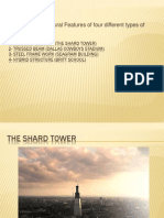 Structural Features Of four different types of buildings