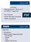 WMS and Order Management