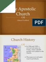 Apostolic Church. A. Woolford