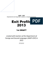 first draft  exit profile 2013