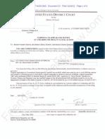 EDCA ECF 23 - Grinols v Electoral College - NOTICE Subpoena Served on Barack Obama Through the US Attorney