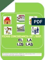 Cuadernillo Fichas Concordancia Genero Numero