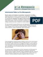 Información Sobre La Pre-Menopausia