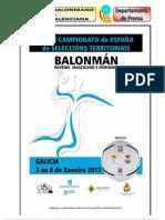 Campeonato España selecciones Juveniles