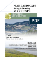 European Landscape Painting & Drawing Workshop with Nina Weiss