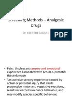 Screening methods – analgesic drugs