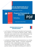 Programa de Promocion 2012