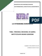 PROCESUL DECIZIONAL IN CADRUL INSTITUTIILE UE