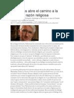 Amengol-Habermas abre el camino a la moderna razón religiosa