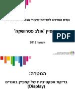 אולג פטרושקה- מצגת סיכום קמפיין
