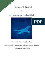 Jet Airways Investment Report