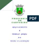 Regulamento e Tabela Geral de Taxas e Licenças - JFC