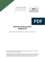 Extracto Manual Recepcion