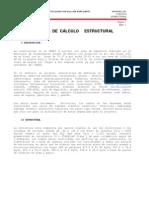 MEMORIA DE CALCULO PARA ESTRUCTURA