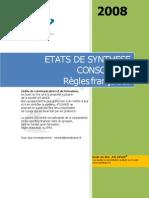 Etats de synthèse consolidés