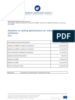 Guideline on setting specifications for related impurities in antibiotics