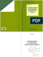O Ordenamento do Territorio como politica publica