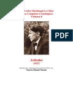 Vol 08 - MARIATEGUI - Obras Completas Cronológicas. 1927. (AUDIOLIBROS)