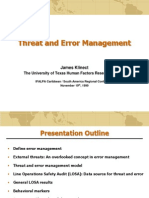 Thread and error management