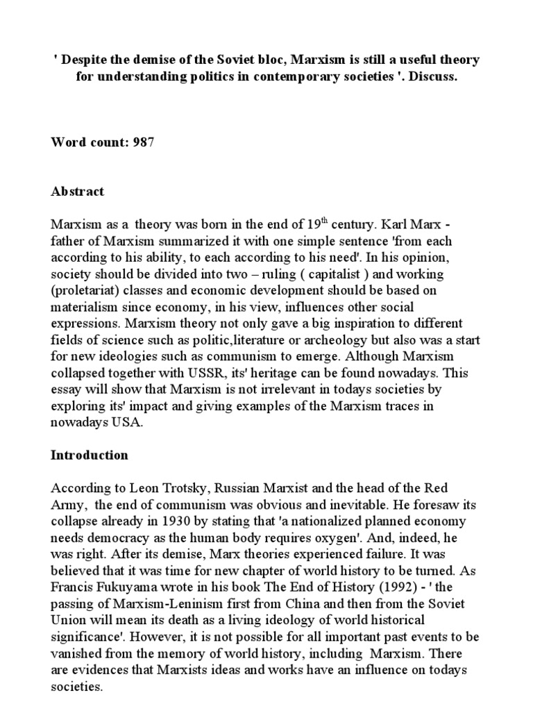 Marxist theory essay topics email cover letter sample cold