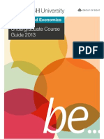 Faculty of Business & Economics Undergraduate Course Guide 2013