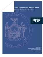 New York State Courts Electronic Filing User Manual