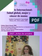 Cáncer de mama, Mujer y Salud Global