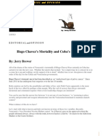 Hugo Chavez's Mortality and Cuba's Deception