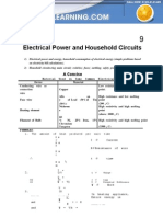Electrical Power and Household Circuits