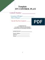 QC Plan Template
