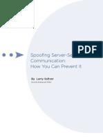 Spoofing Server-Server  Communication